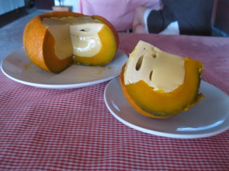 Happy Halloween Pumpkin stuffed with Thai Custard