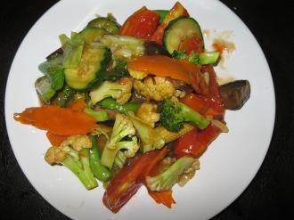 "Stir Fried Mixed Vegetables with ""veggie Oyster Sauce"""
