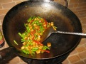 Stir Fried Fresh Beans and Red Curry Paste